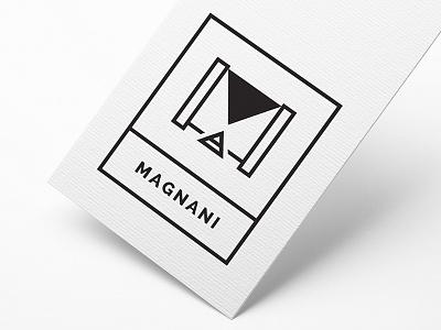 Magnani Studio clean design graphic logo minimalist business card