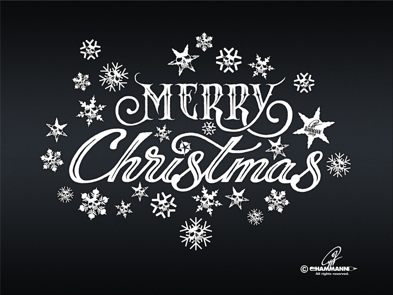 """Handlettering """"Merry Christmas"""" typographie illustration calligraphy typography lettering handlettering"""
