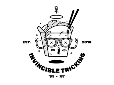 Takeout Tee - Invincible Tricking apparel design character design illustration