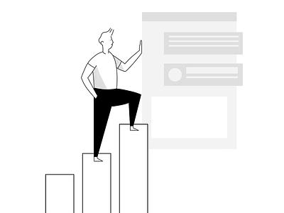 Revenue Graph illustration design business revenue graph drawkit illustration