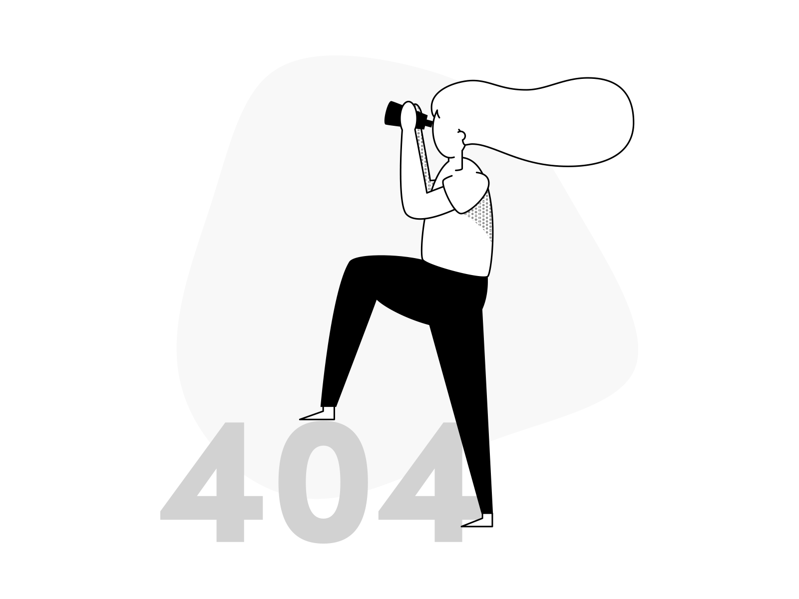 Error 404 monochrome dribbble