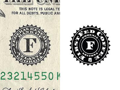 FirstFed Seal Mark banking cafe coffee arizona phoenix startup branding logo dollar bank currency federal money shield badge seal