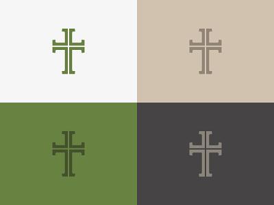 Cross Logo branding logo church branding church design church logo bible serif church cross