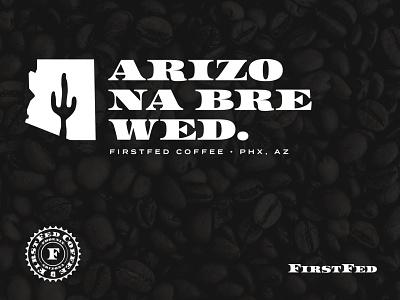 FirstFed Brand Elements saguaro cactus entrepreneur startup logo branding arizona coffee bean coffe shop coffee midcentury dollar currency money federal