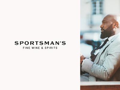 Sportsman's Logo (black version logo typography typography masculine midcentury spirits wine entrepreneur startup branding luxury logo design logo