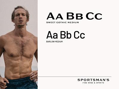 Sportsman's Logo Typography runner spirits wine masculine luxury entrepreneur startup branding mid century typography logo typography logo design logo