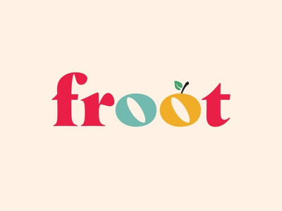 froot Word Mark startup serif word mark typography identity brand design brand branding colors colorful apple fruit