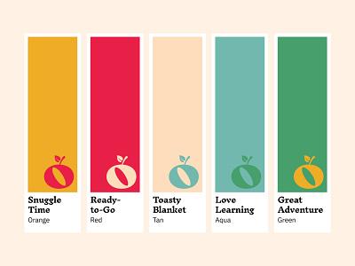 froot Brand Color Palette logo design kids education learning logo identity brand design branding spot color pantone color scheme color palette brand colors apple fruit
