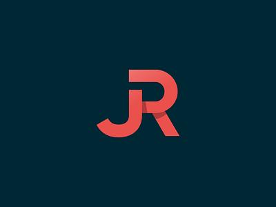JR Bookkeeping Logo Mark (unused) block logo redesign monogram gradient red jr logo