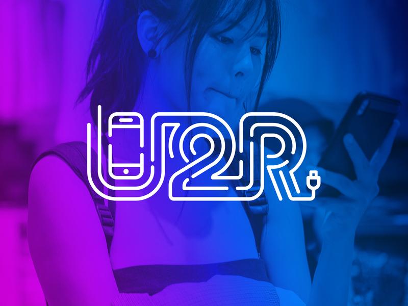 U2R app ui iphone 4 mobile phone gradient charger plug smartphone inline