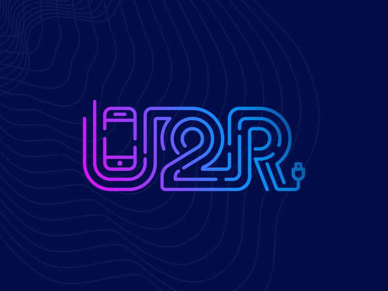 U2R on dark ui smartphone plug mobile phone iphone inline gradient charger app