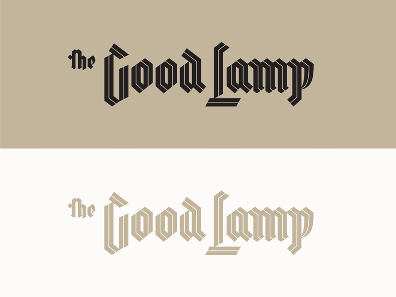 The Good Lamp royal typography lettering lamp church medieval inline old english blackletter