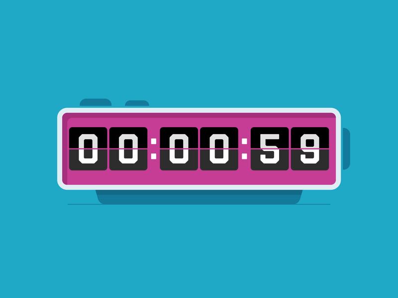 60 seconds… purple central coast slo branding time minute timer vintage retro alarm clock