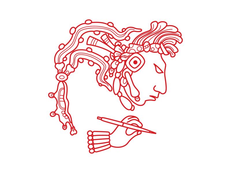 ihtoa… slo central coast branding talk contact spanish native chicano mayan red icon mexican aztec