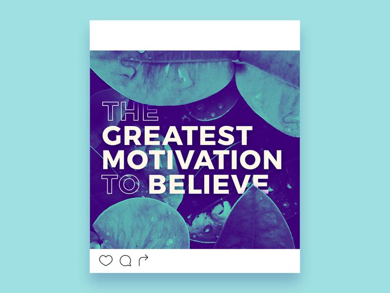 Believe wip duotone content branding slo central coast faith believe depth leaves foliage social