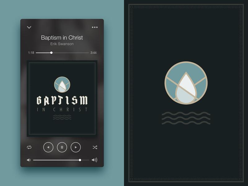 Baptism slo central coast branding wave church audio mosaic drop water baptism ui cover art