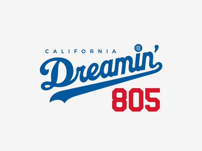 California Dreamin' pinta branding blue sports los angeles baseball dodgers slo 805 central coast california