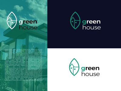 Green House identity nature green real estate house logo house logo design graphic design branding logo