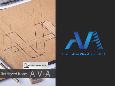 AVA typogaphy branding logos graphic flat coverbook illustration design photoshop illustrator logo