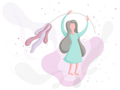 Girl vector web ui icon free arabic iran design photoshop illustration flat illustrator