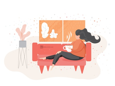 My beautiful autumn! web app icon graphic flat design photoshop illustrator coverbook illustration