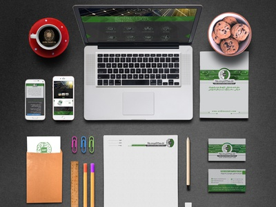Branding site logo business card brochure catalog