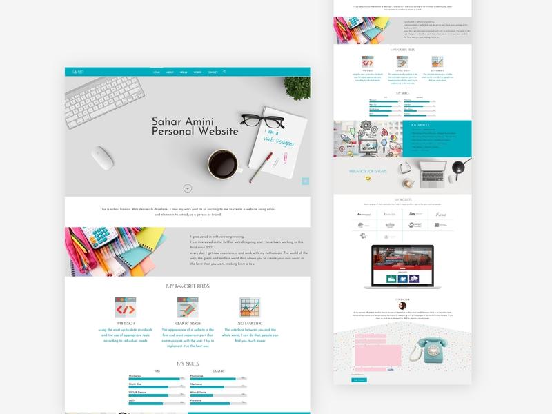 Personal website branding webdesign personal
