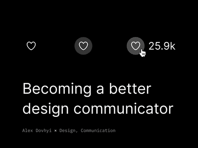 Becoming a better design communicator ↗ support team speak business communication presentation design communication design