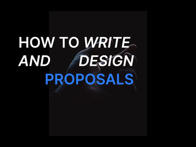 How to write and design proposals interface product freelance ux ui design product design proposals proposal template proposal design proposal