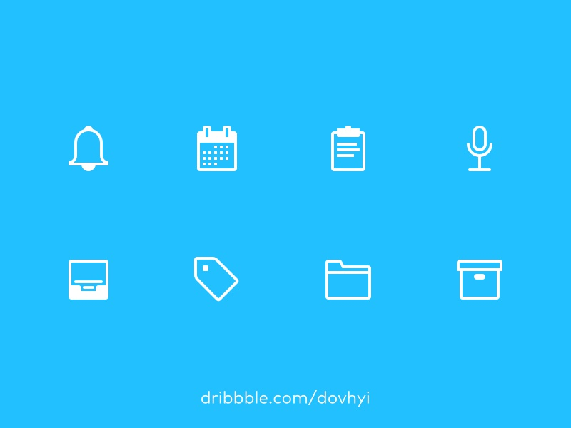 FREEBIE – Outline Icons – Get Yours Now