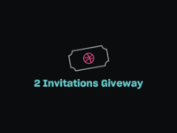 2 Dribbble Invitations Giveway 🎉 🎫 🎟