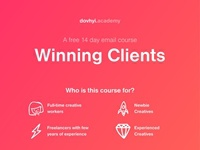Winning Clients - A free 14 day email course for creatives