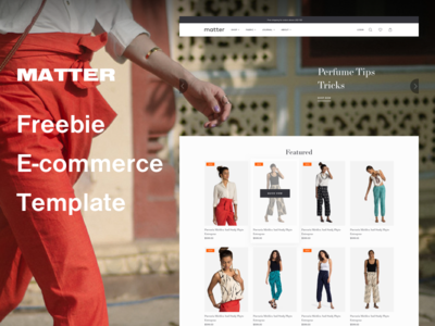 Matter Freebie E-Commerce Template product free shop store website web template ecommerce freebie
