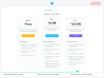 Pricing Table Design features minimal modern clean plan pricing table price