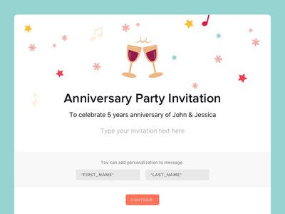 Invitations Template company saas search service product tasks budget guests time date plan event