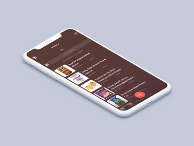 Cooklist Pantry · iOS App branding 2d drink startup interface food cook ios design app minimal clean ux ui