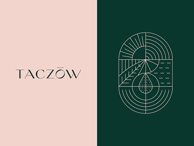 Taczow logo design elegant design hotel pink branddesign branding illustrator adobe vector illustration artwork dogz creativeherd creative design art