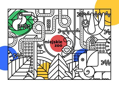 City Zoo illustration adobe illustrator vector artwork drawing art logotype design branding illustration logo