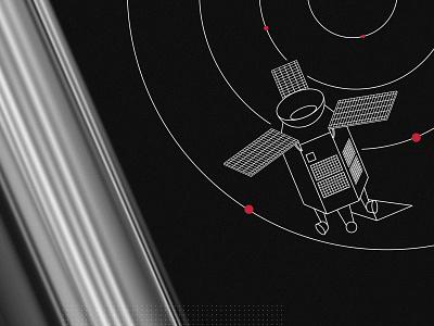 Space illustration blackandwhite cosmic space illustrator adobe vector illustration dogz creativeherd creative artwork design art