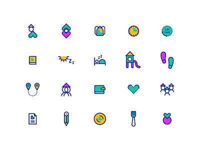 Kindergarten icons designs icon design icon set icons pack kindergarten iconset icons branding illustrator adobe artwork illustration dogz creativeherd creative design art