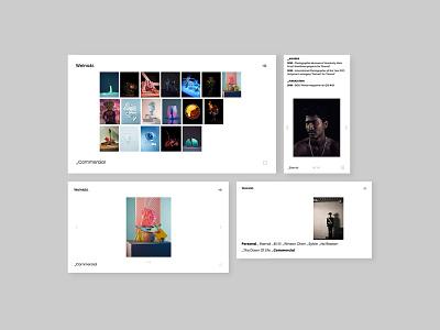 Photographer website portfolio ui ux website design website www typography logo branding artwork dogz creativeherd creative design art