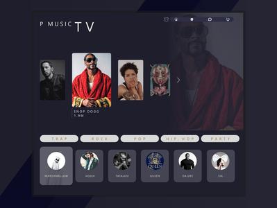 P music app tv