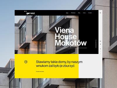 Garvest.com premium typography web uidesign webdesign minimalistic architecture real estate