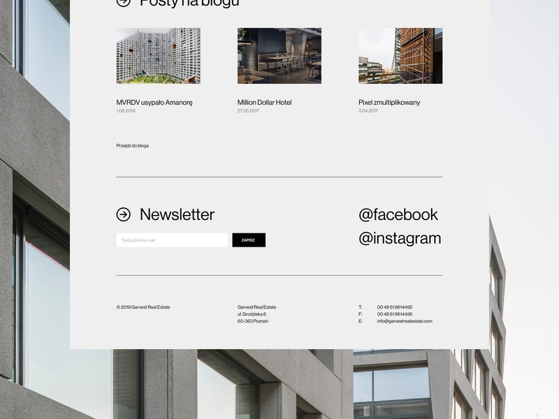 Garvest real estate typography web uidesign webdesign minimalistic