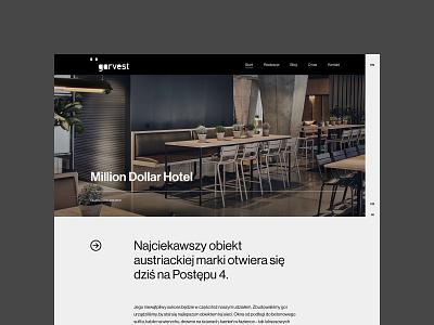 Garvest - blog post blog real estate typography web uidesign webdesign minimalistic