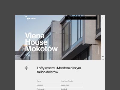 Garvest - property page real estate premium architecture typography web uidesign webdesign minimalistic