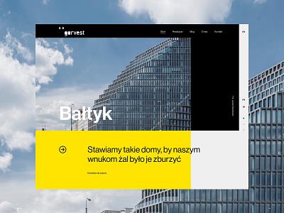 Garvest - Baltyk real estate architecture premium typography uidesign webdesign minimalistic