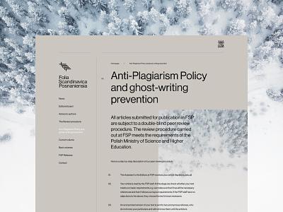 Folia Scandinavica Posnaniensia - Text page design branding typography web uidesign webdesign minimalistic