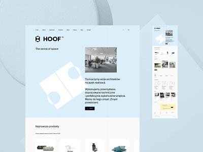 HOOF - Home office premium typography web uidesign webdesign minimalistic