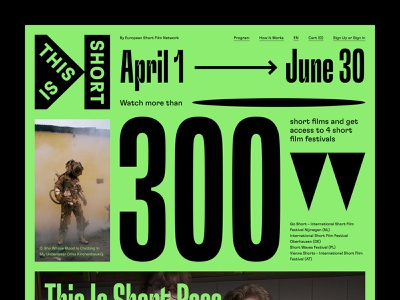 This is Short festival typography web uidesign webdesign